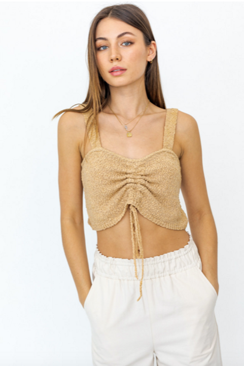 Cropped Knit Sweater Top