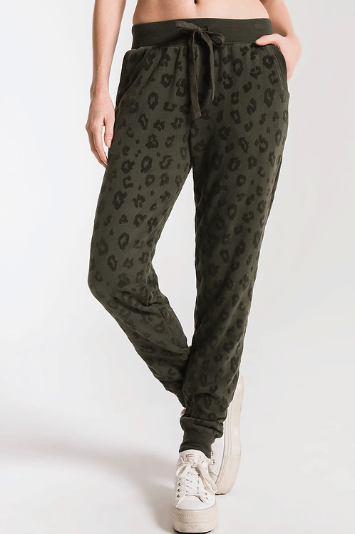 Olive Leopard Joggers