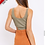 Thumbnail: Olive Cut Out Bodysuit