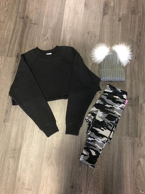 Black Grey and White Camo Leggings