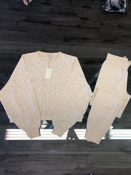 Off White Cheetah Sweatshirt