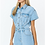 Thumbnail: Short Sleeve Denim Romper