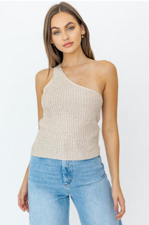 Knit One Shoulder Top