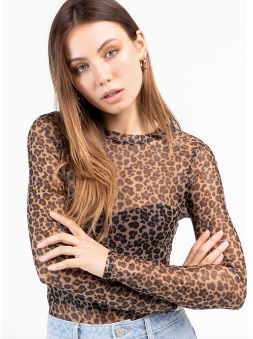 Sheer Leopard Bodysuit