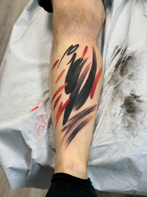 Abstract Brushstroke Tattoo