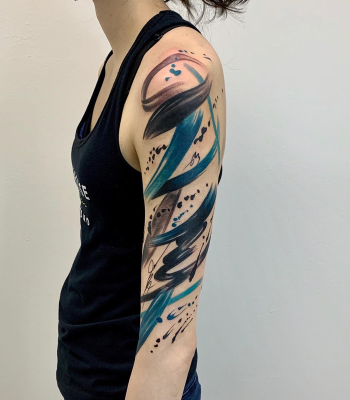 Abstract Paint Tattoo