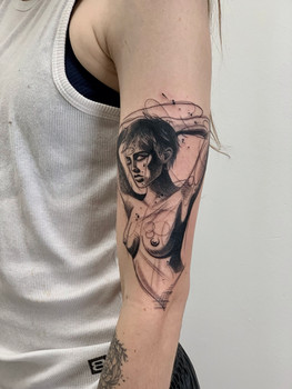 Abstract Female Tattoo