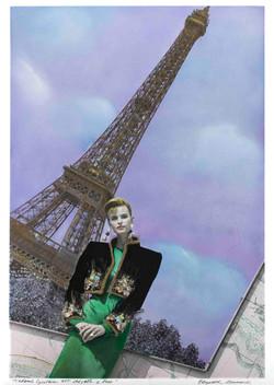 Cynthia Ott chez elle robe Givenchy