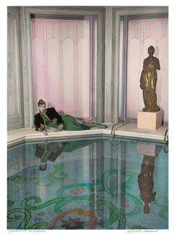 Cynthia Ott and her swimming pool
