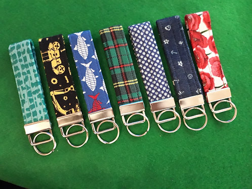 Patterned  Key Rings - Click to see our full range