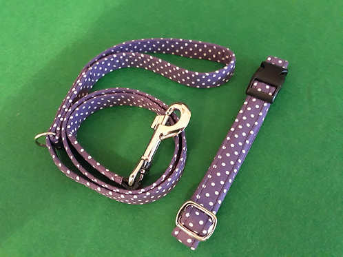 Medium / Small - Matching Collar and Lead Set - Click to see our full range
