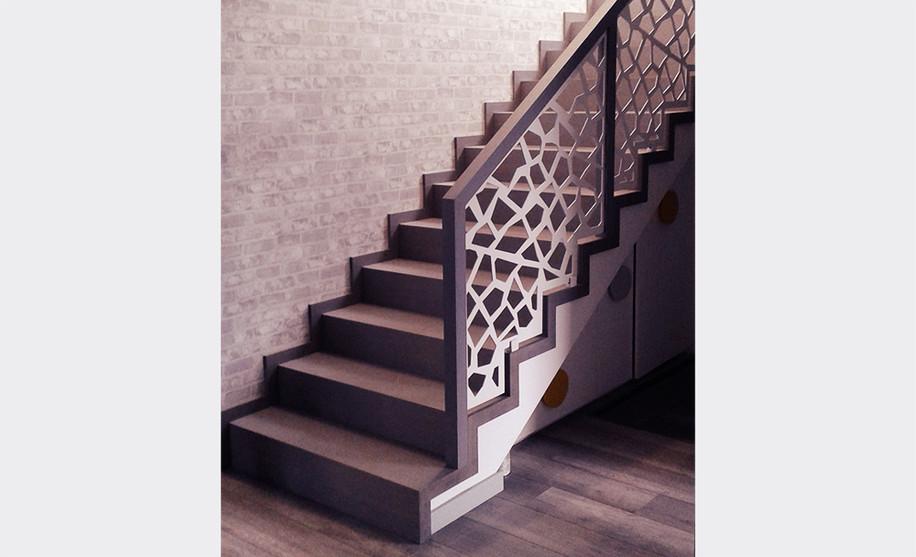 schody,barierka ażurowa