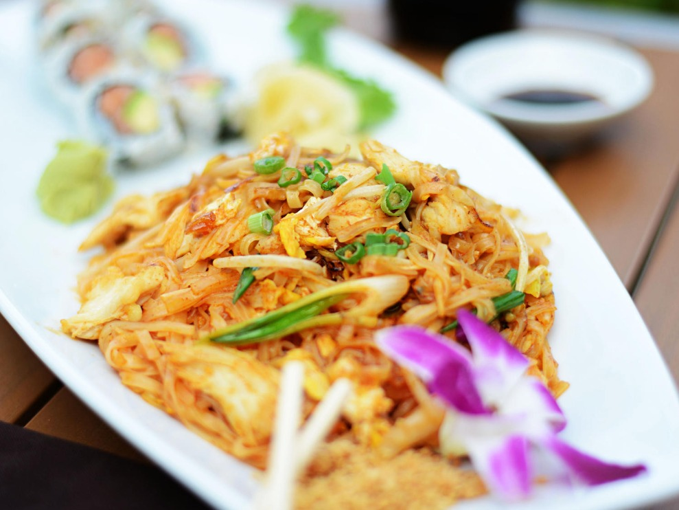 You Pick Two Pad Thai + Sushi rolls