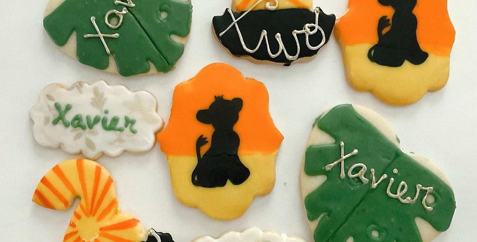 Lion Birthday Cookies (One Dozen)