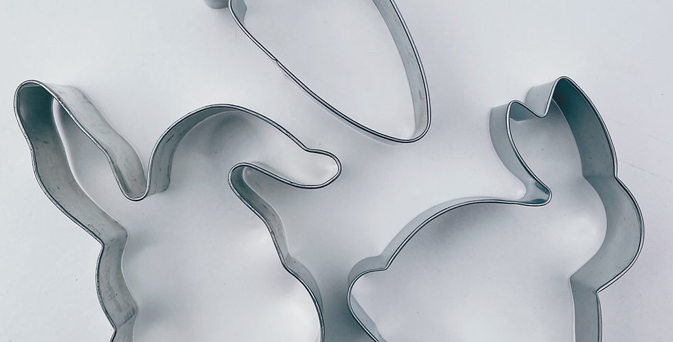 Easter Bunny Cookie Cutter Set