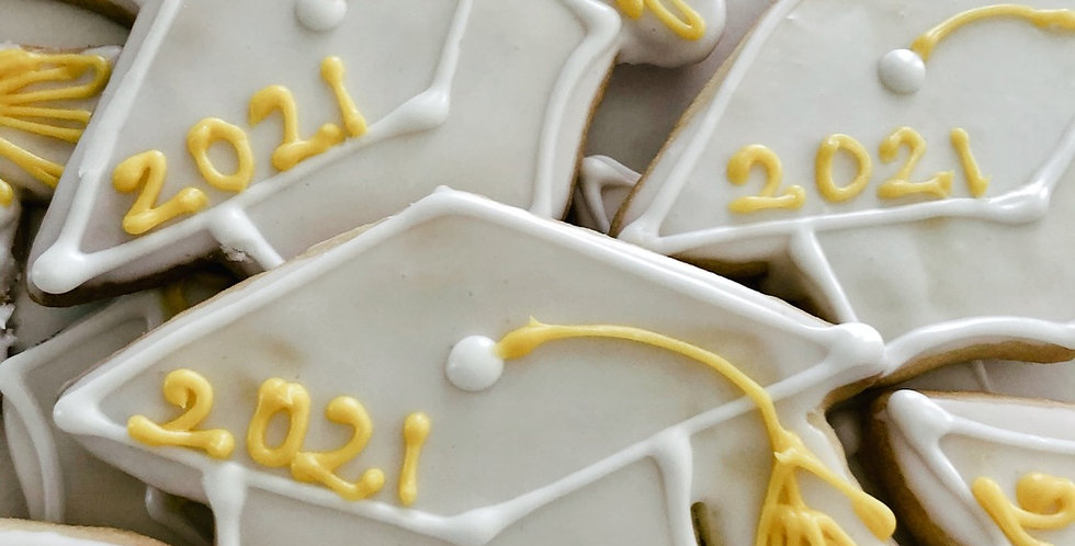Graduation Cap Cookies (One Dozen)