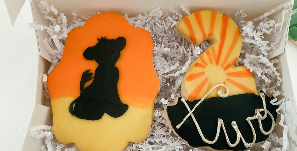 Lion Birthday Box (2 Cookies)
