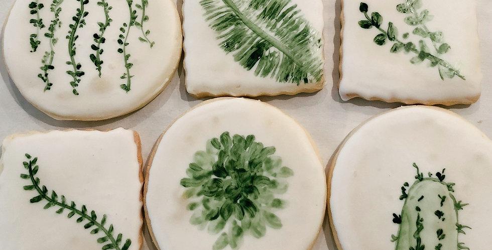 Greenery Cookies (One Dozen)