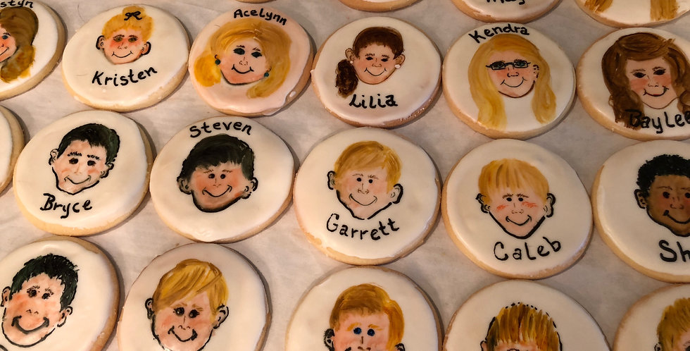 Hand Painted Class Photo Cookies
