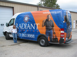 Radiant Plumbing Vehicle Wrap