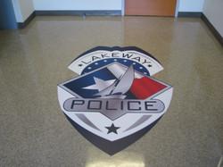 Lakeway Police Floor graphic lk21380