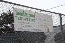 Sponsor Banner on Fence