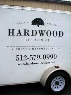 Hardwood Design Trailer Lettering