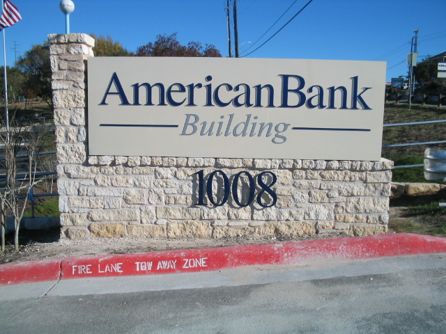 American Bank Panel with Letters