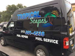 Tropical Scapes Van Applied