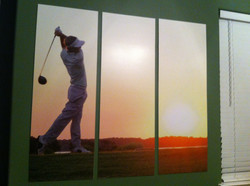 paneled photo wall graphic