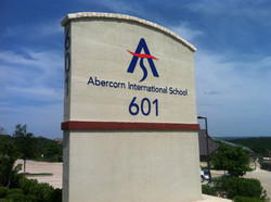 Abercorn Painted Acrylic Lettering