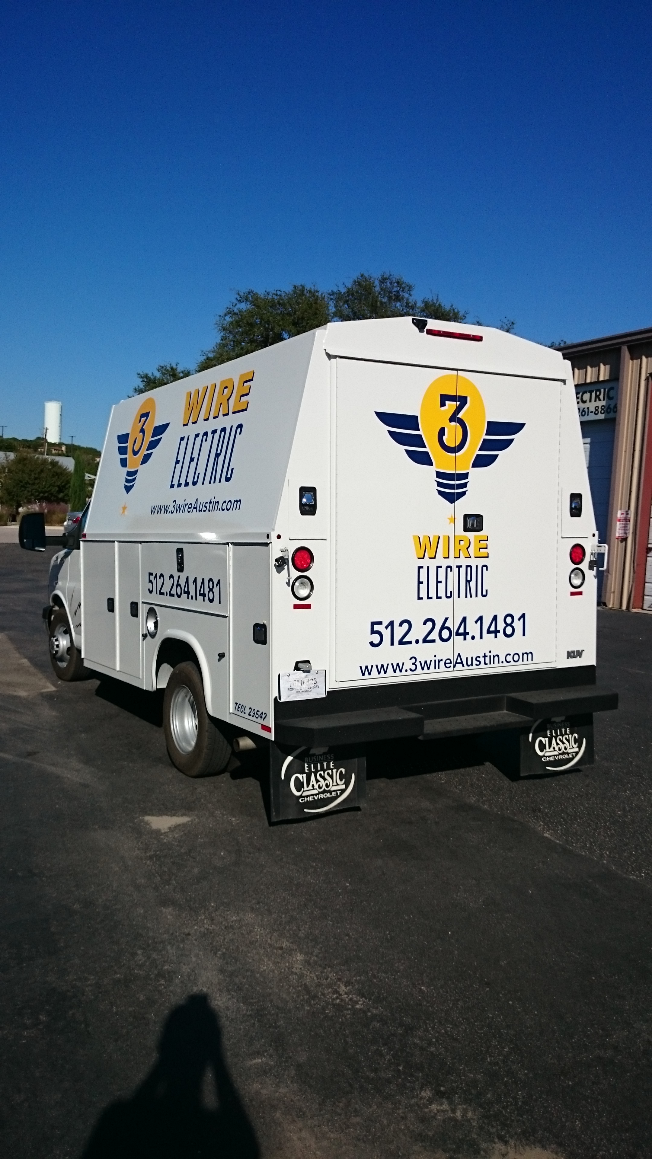 Electric Truck Vinyl Applied
