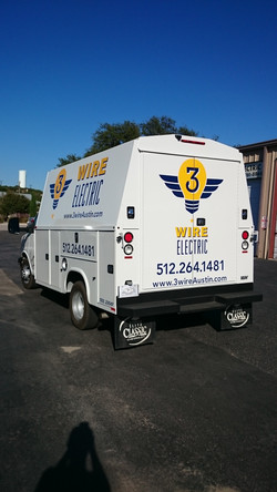 Electric Truck Vinyl Applied