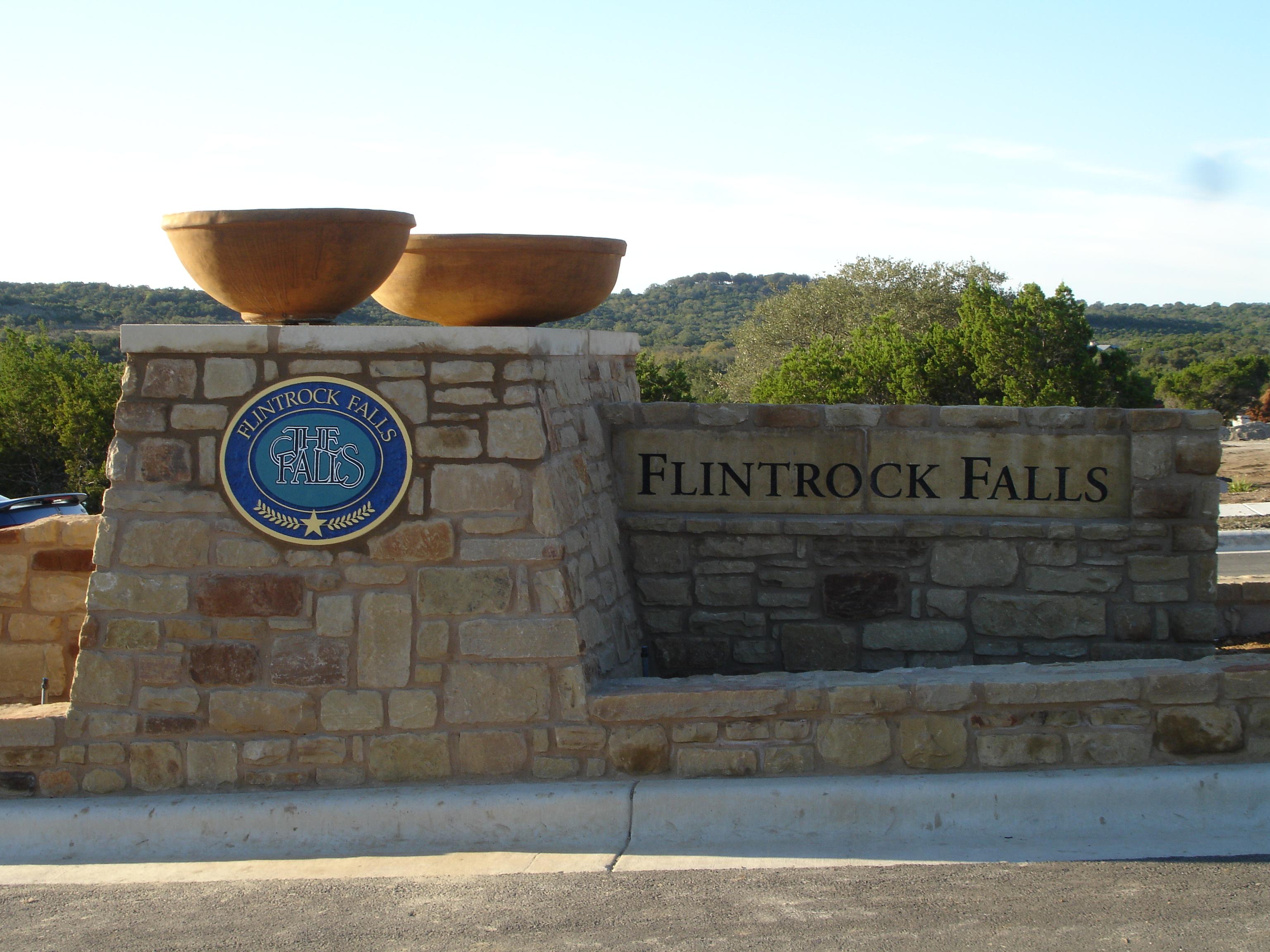 Flintrock Falls Entry Monument