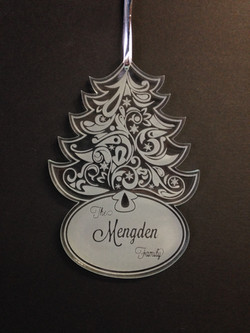 Christmas Engraved Ornament