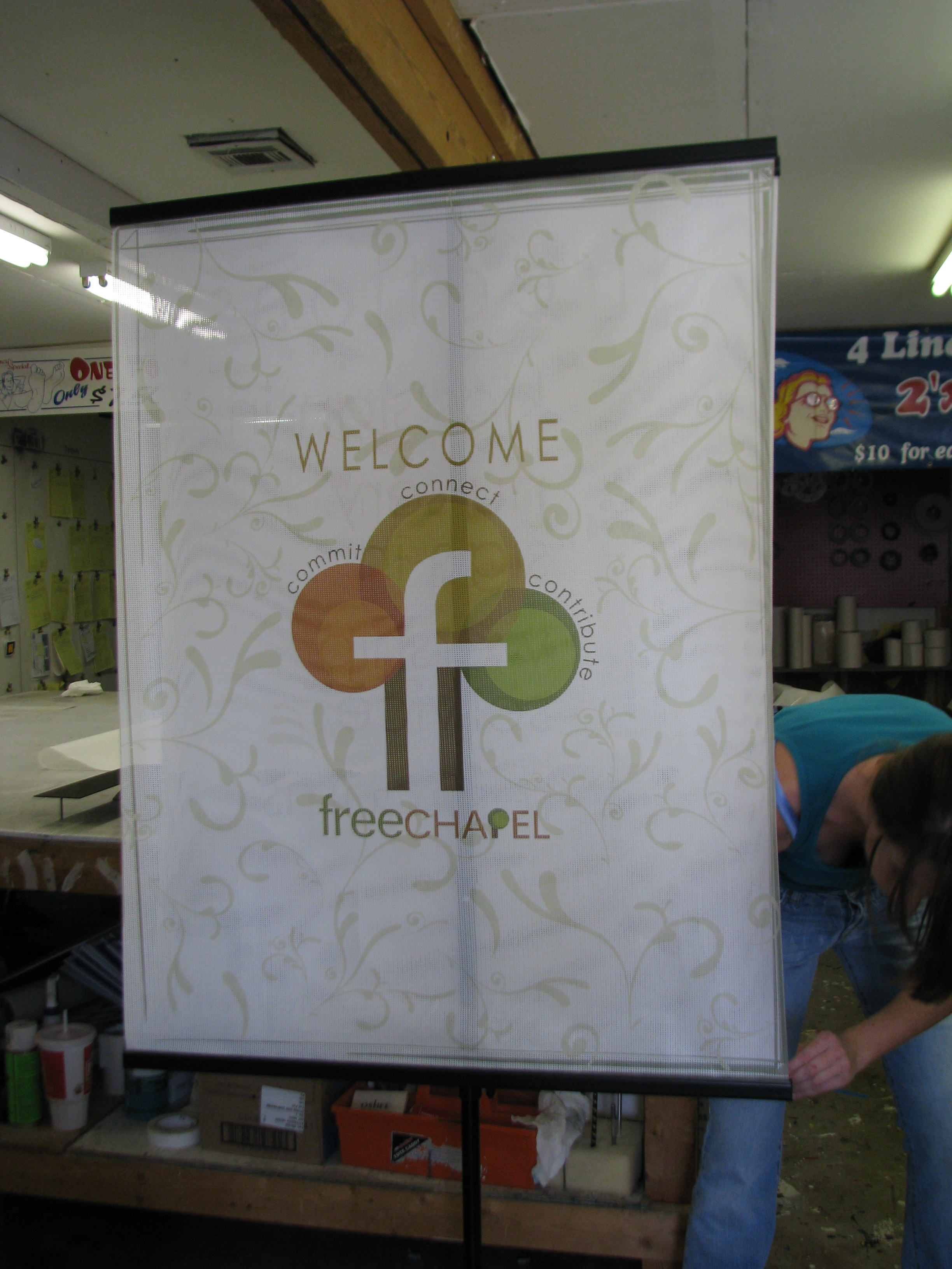 Free Chapel Austin Banner and Frame