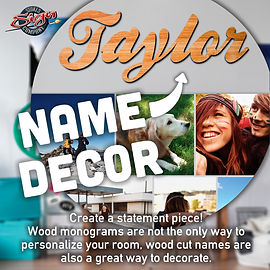 Order Cut Wooden Name