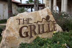 The Grill Rusted Letter Monument