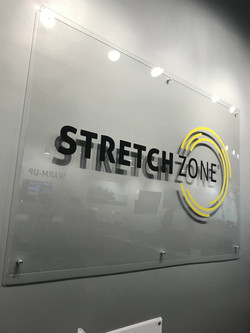 Acrylic interior reception sign