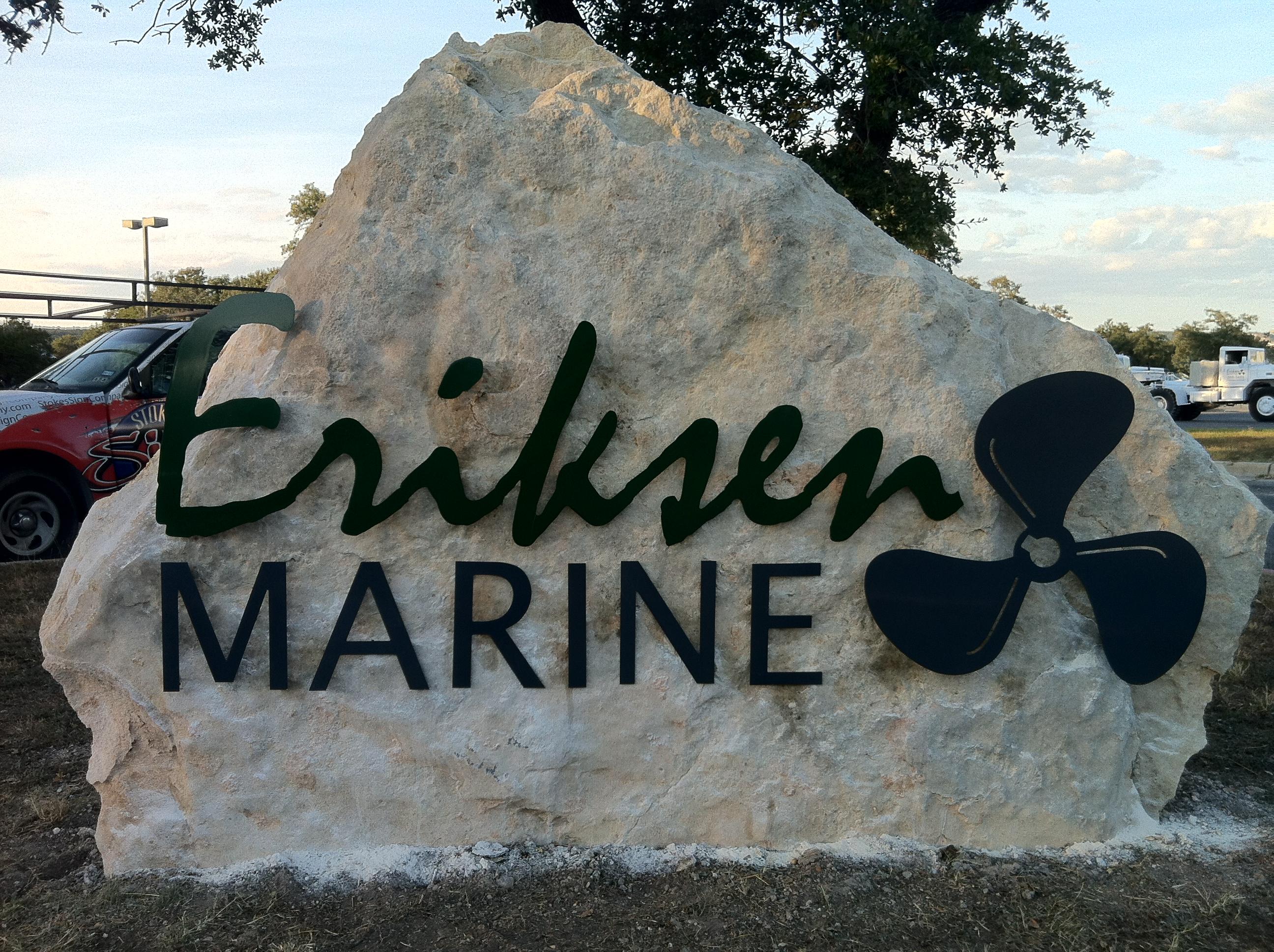 Erickson Marine Lettering in Stone