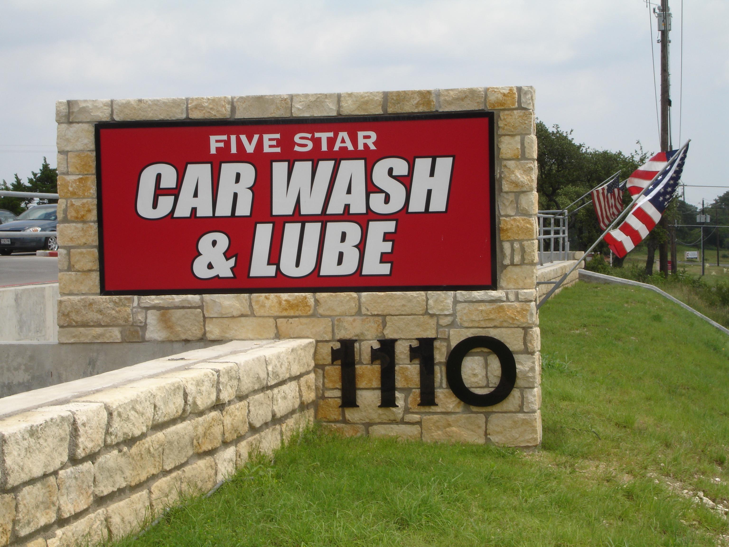 Five Star Car Wash Acrylic Panel