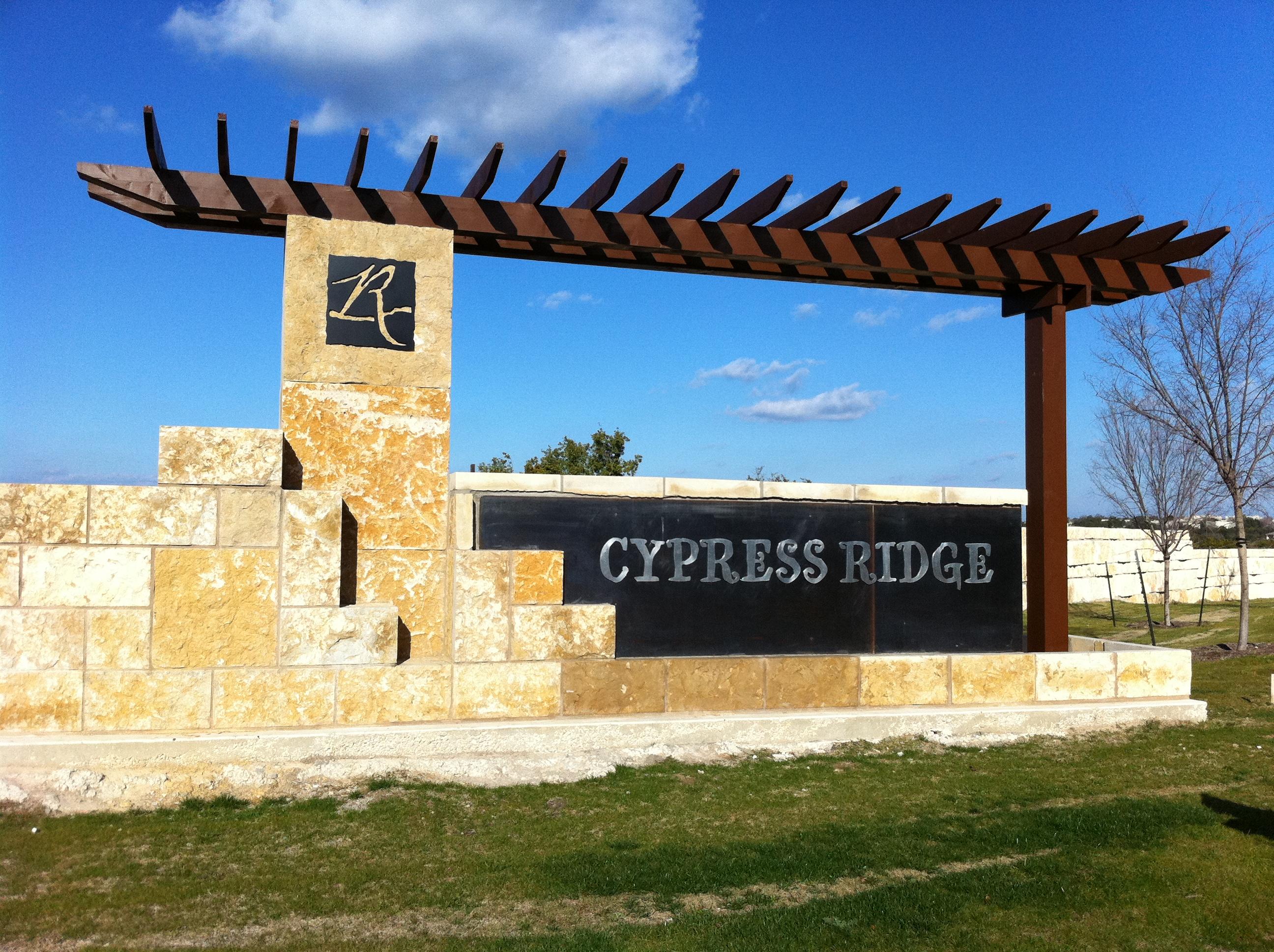 Cypress Ridge Monument