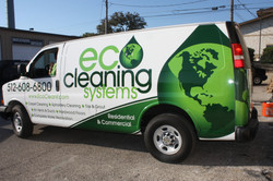 Eco Cleaning System Van Partial Wrap