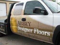 Abbey Designer Floors Truck Wrap