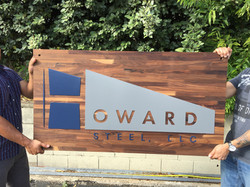 Howard Steel Reception sign Austin