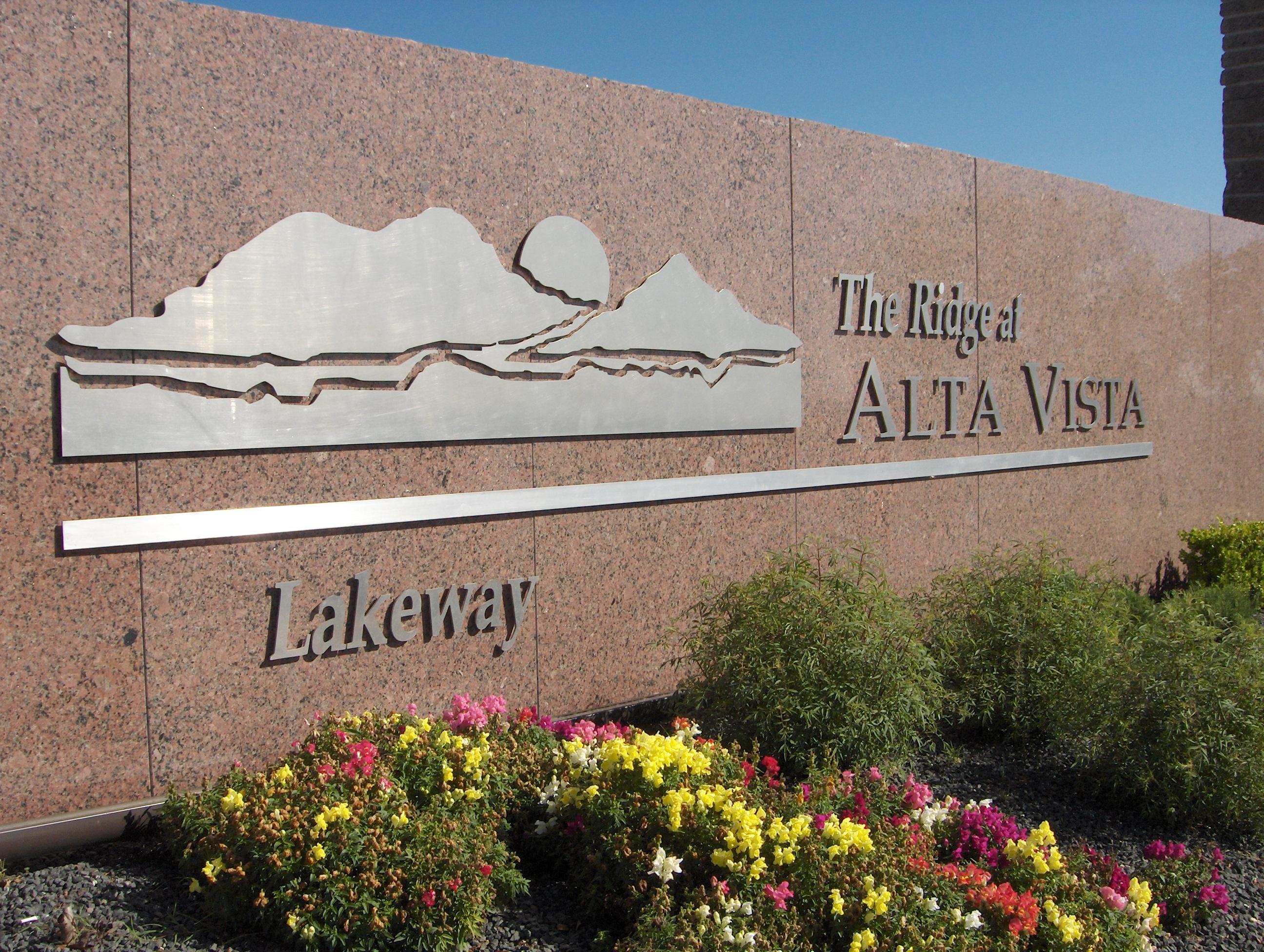 The Ridge at Alta Vista Metal Cut