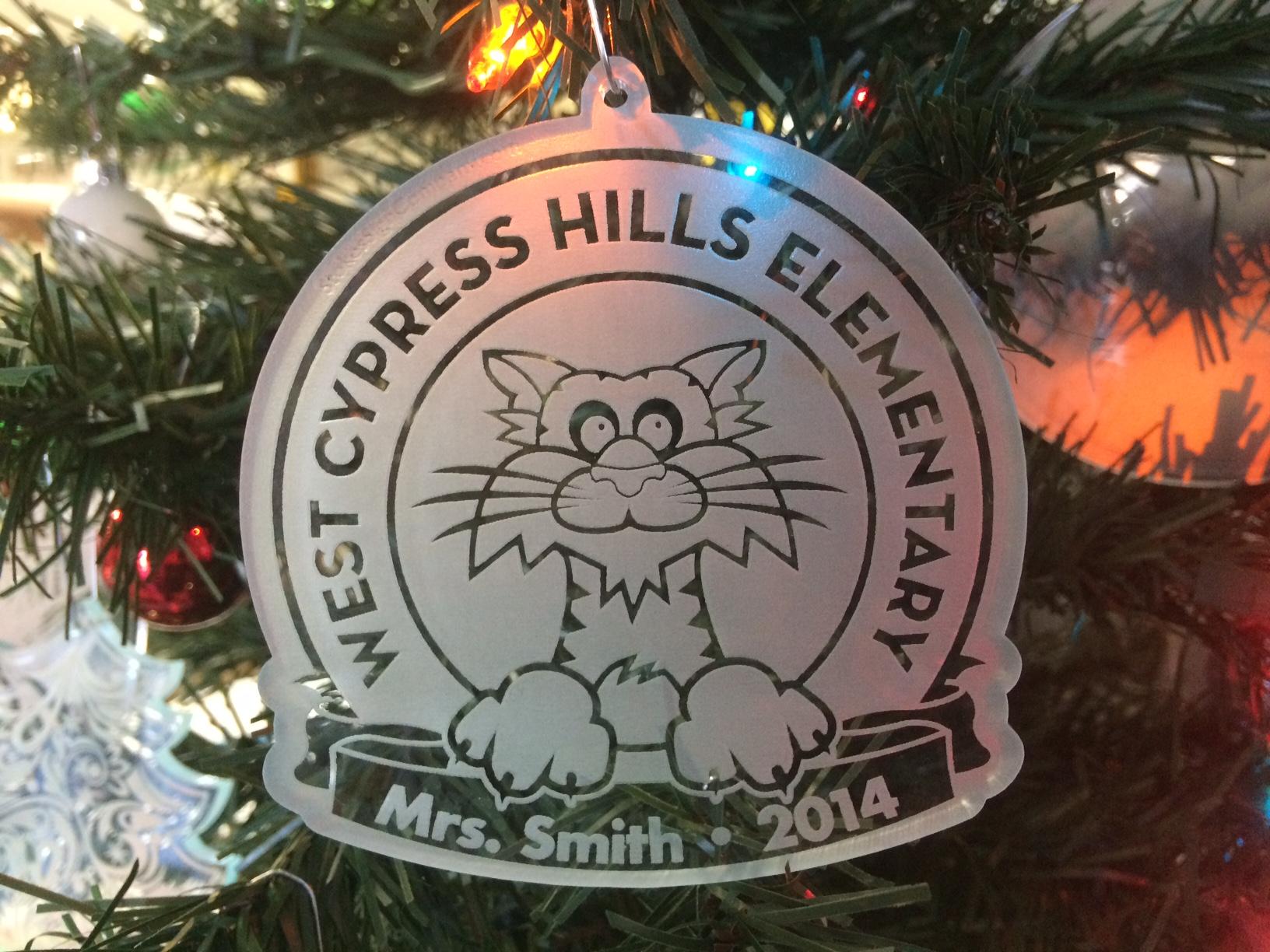 Custom Engraved Christmas Ornament