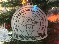 Custom Engraved Christmas Ornament