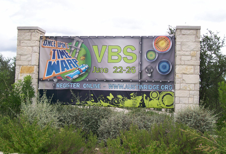VBS Pillow Banner