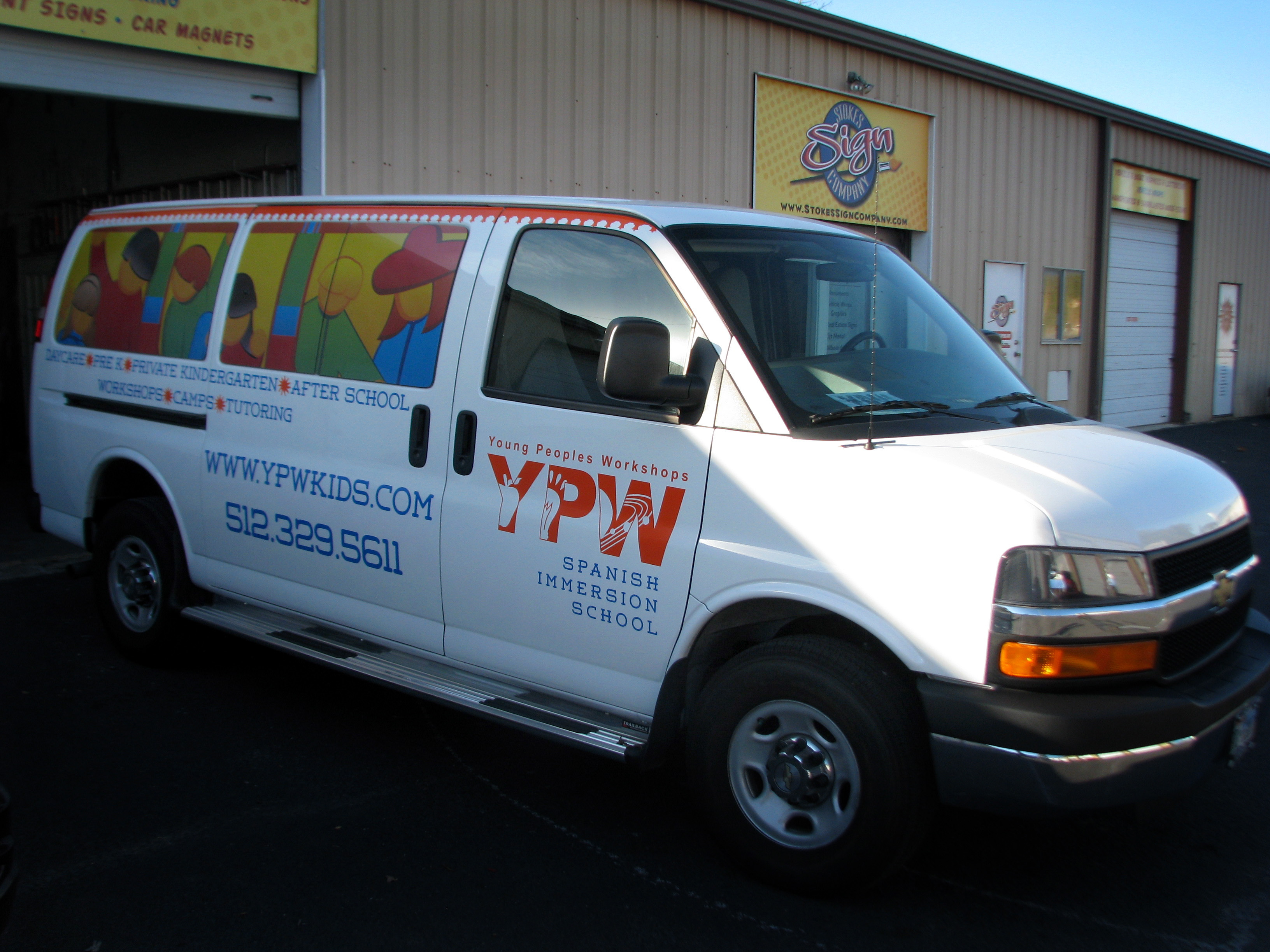 Van Lettering and Perforated Film